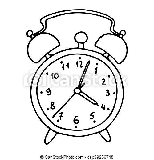 Reveil dessin anim horloge reveil vecteur dessin - Dessin reveil ...