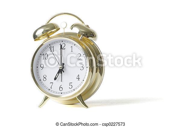 reveil, or, horloge - csp0227573