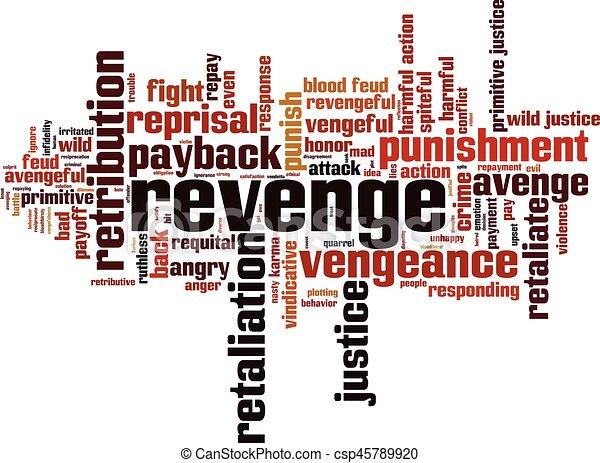 Revenge word cloud - csp45789920