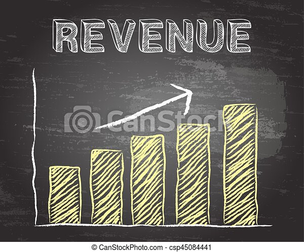 Revenue Up Blackboard - csp45084441