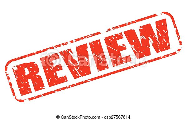 Review red stamp text - csp27567814