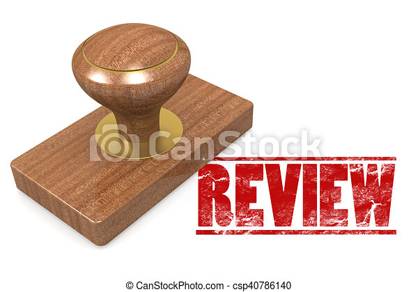 Review wooded seal stamp - csp40786140