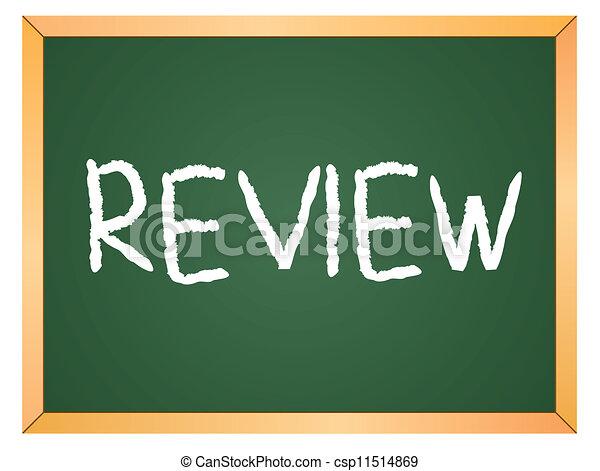 review written on chalkboard csp11514869