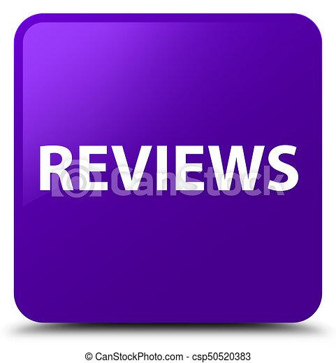Reviews purple square button - csp50520383