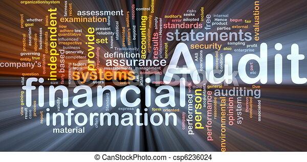 Das Konzept der Finanzprüfung leuchtet - csp6236024