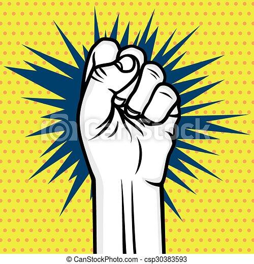 Pop art fist
