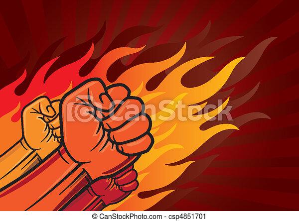 revolution fist - csp4851701
