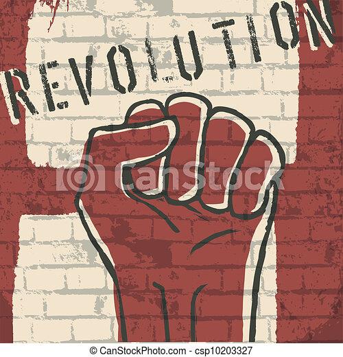 Revolution! vector illustration, EPS10 - csp10203327