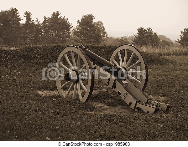 Revolutionary War Cannon - csp1985903