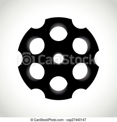 Revolver drum on white - csp27440147