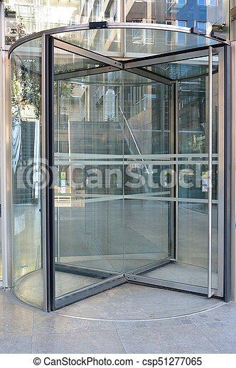 Revolving Door Modern Revolving Door As Entrance To Office Building