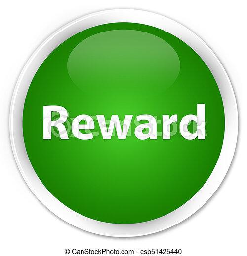 Reward premium green round button - csp51425440