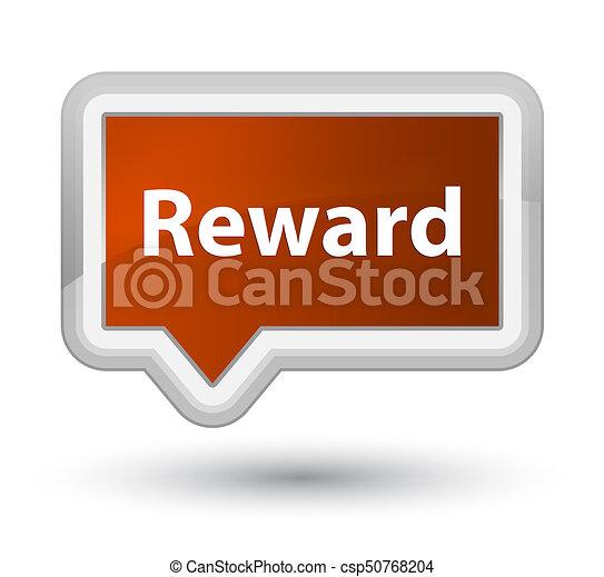 Reward prime brown banner button - csp50768204