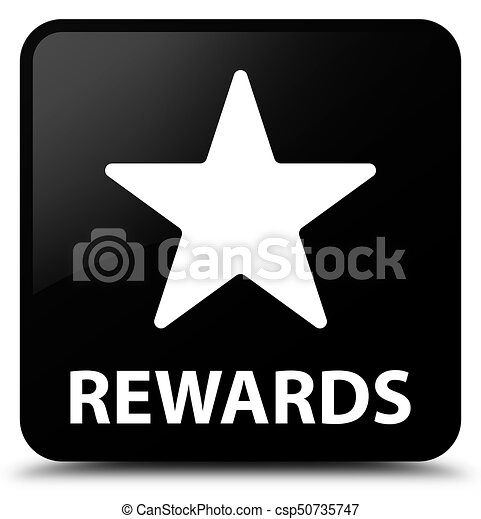 Rewards (star icon) black square button - csp50735747