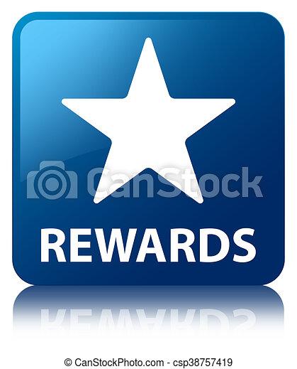 Rewards (star icon) blue square button - csp38757419