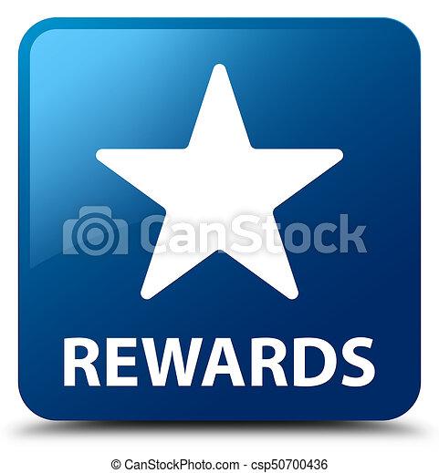 Rewards (star icon) blue square button - csp50700436