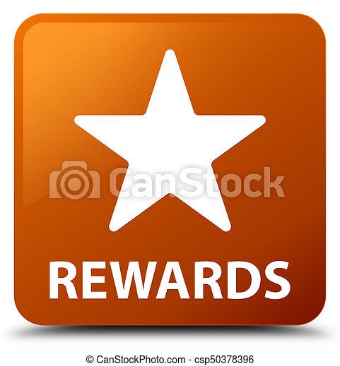 Rewards (star icon) brown square button - csp50378396