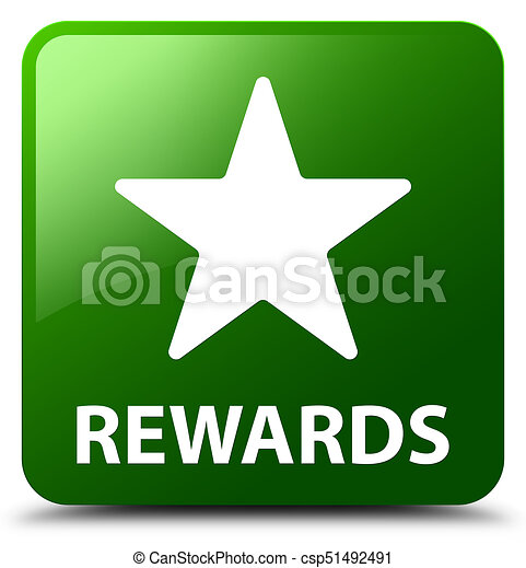 Rewards (star icon) green square button - csp51492491