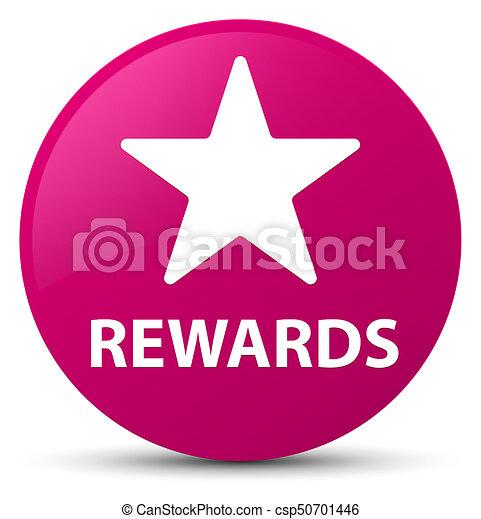 Rewards (star icon) pink round button - csp50701446