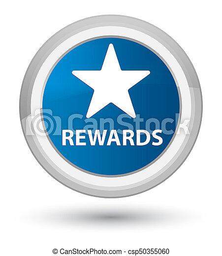 Rewards (star icon) prime blue round button - csp50355060