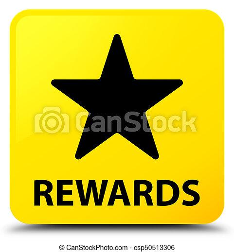 Rewards (star icon) yellow square button - csp50513306
