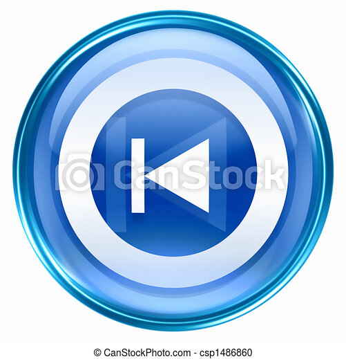 Rewind Back icon blue - csp1486860