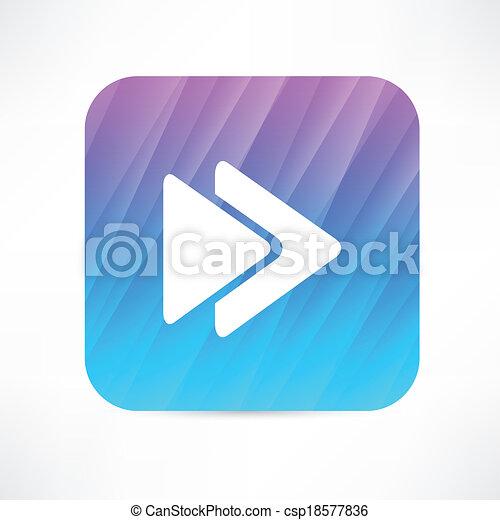 rewind icon - csp18577836