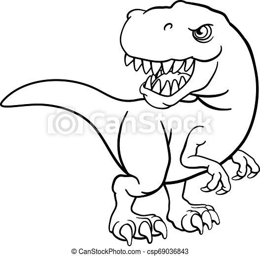 Rex Tyrannosaurus Caractere Dinosaure T Dessin Anime Canstock