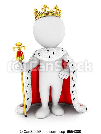 3D de los blancos rey - csp16554308