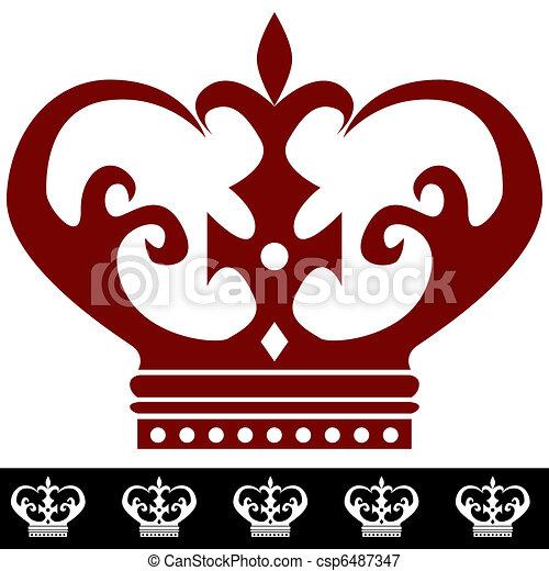 Ilustracin vectorial de rey corona frontera icono  An imagen