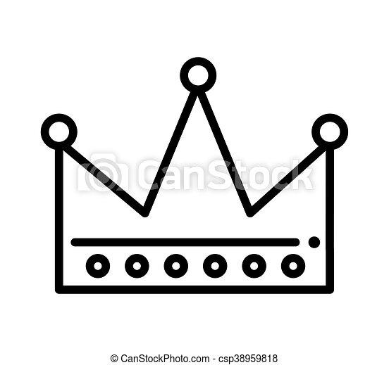 Clip art vectorial de rey dibujado corona icono  corona rey