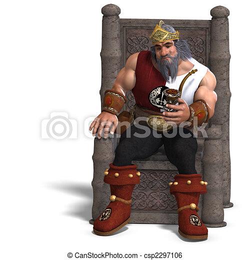 Rey de los enanos de fantasía - csp2297106