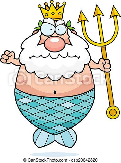 Rey enojado Neptuno - csp20642820