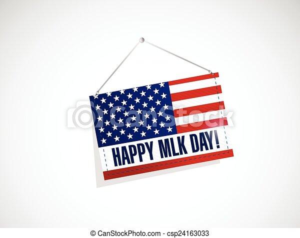 Martin Luther King nos puso bandera - csp24163033