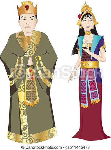 Rey Tailandés y reina - csp11445473