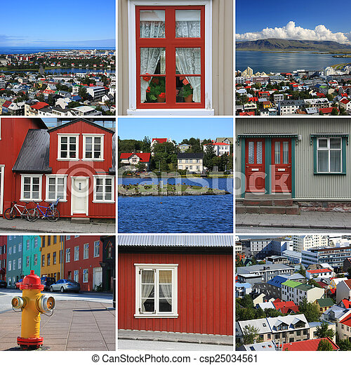 reykjavik, beau - csp25034561