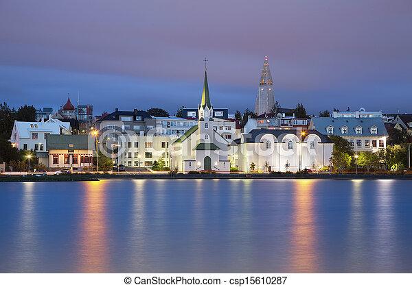 reykjavik, iceland. - csp15610287