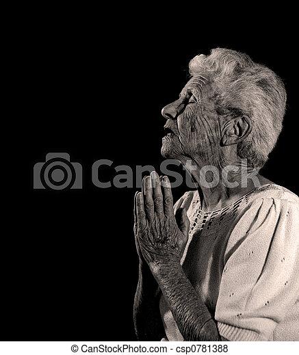 rezar, deus, thee - csp0781388