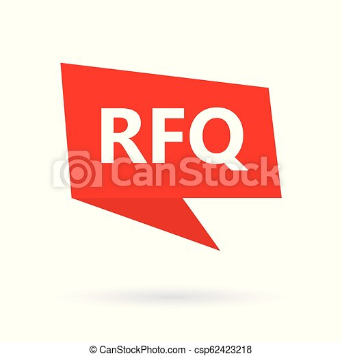 RFQ (Request For Quotation) acronym on a speach bubble