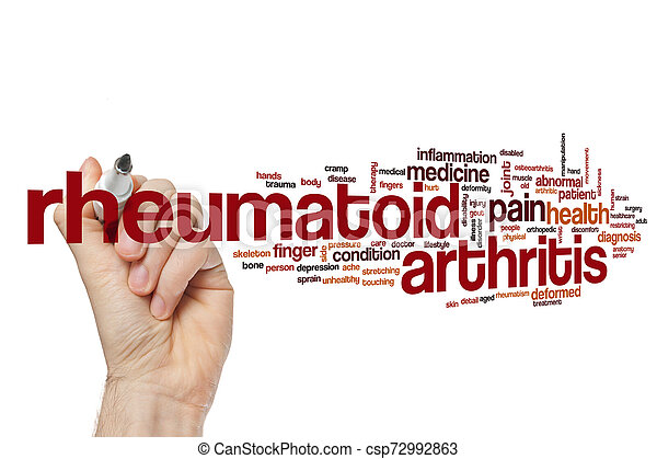 rheumatoid artretyzm, słowo, chmura - csp72992863