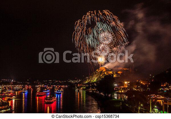 Rhine in Flames - csp15368734