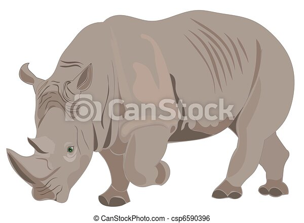 Rhino illustration raster - csp6590396