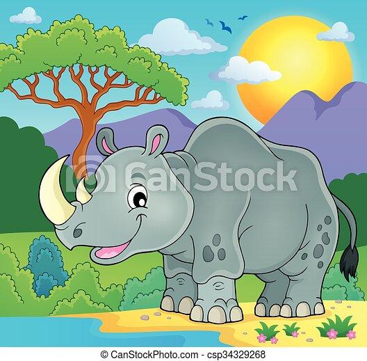 Rhino theme image 2 - csp34329268