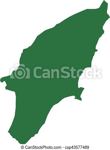 Rhodes island map - csp43577489