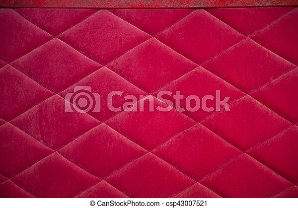 Rhombus Sofa Upholstery Red Fabric Texture With Rhombuses Sofa