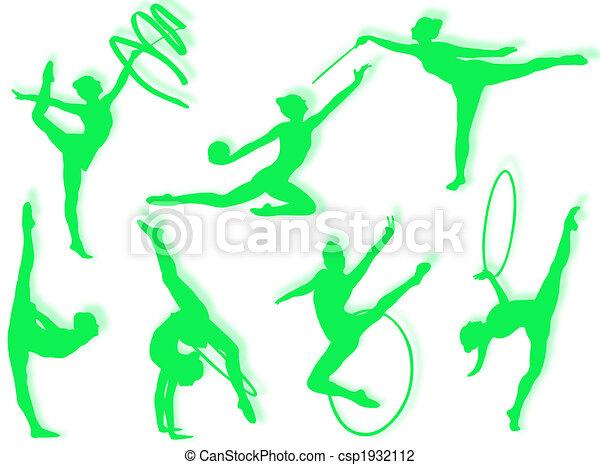 Rhythmic gymnastics exercises - csp1932112