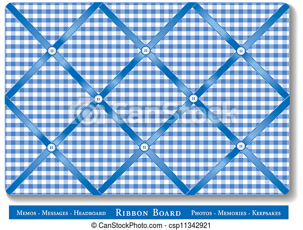 Ribbon Bulletin Board Tuck Favorite Photos And Keepsakes Under Blue