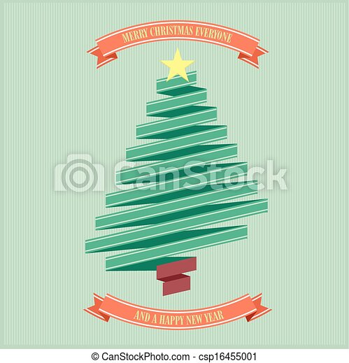 ribbon christmas tree - csp16455001