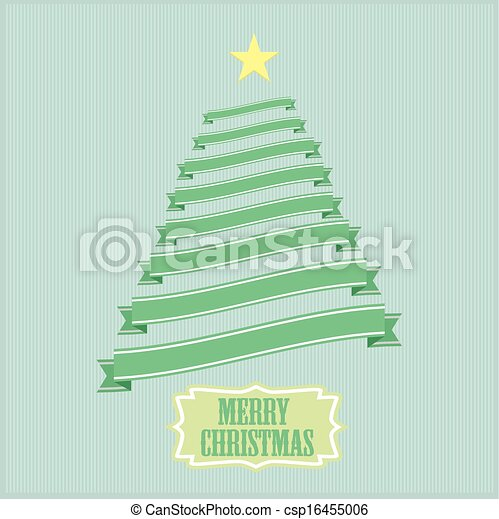 ribbon christmas tree - csp16455006