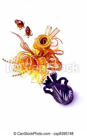 Ribbon Flower III - csp8395748